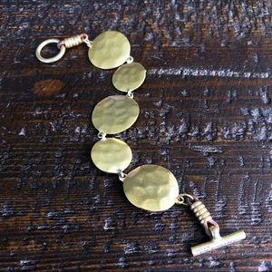 Kenneth Cole Hammered Gold-tone Toggle Bracelet